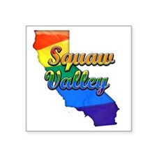 "Squaw Valley Square Sticker 3"" x 3"""
