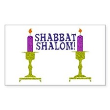 Shabbat Shalom! Rectangle Decal