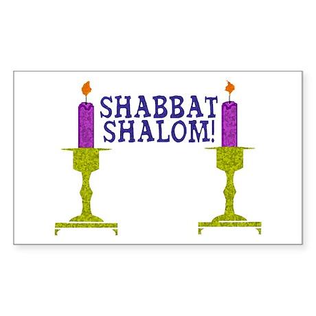 Shabbat Shalom! Rectangle Sticker