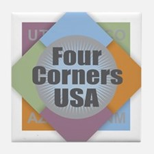Four Corners Tile Coaster