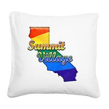 Summit Village Square Canvas Pillow