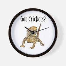 Bearded Dragon Got Crickets Wall Clock