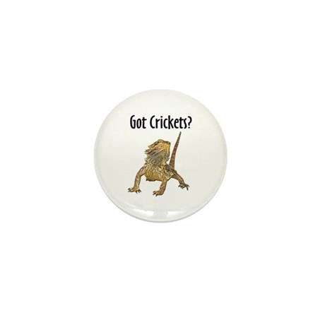 Bearded Dragon Got Crickets Mini Button (100 pack)