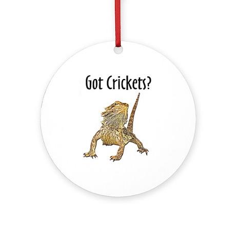 Bearded Dragon Got Crickets Ornament (Round)