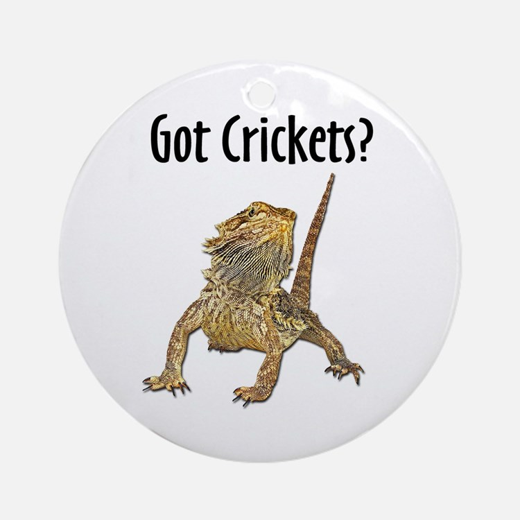 Bearded Dragon Got Crickets Ornament (Round)