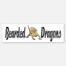 Bearded Dragon Bumper Bumper Bumper Sticker