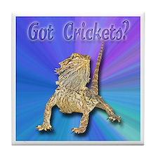 Bearded Dragon Got Crickets Tile Coaster
