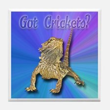 Bearded Dragon Got Crickets Tile Coaster