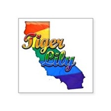 "Tiger Lily Square Sticker 3"" x 3"""