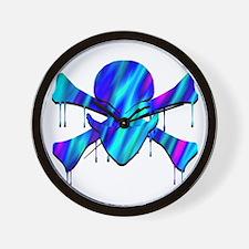 Alien Jolly Roger Melting 2 Wall Clock