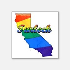 "Turlock Square Sticker 3"" x 3"""