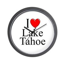 """I Love Lake Tahoe"" Wall Clock"