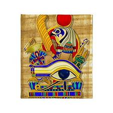 eye-of-horus-w-bg Throw Blanket