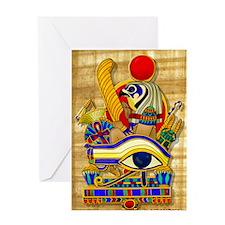 eye-of-horus-w-bg Greeting Card