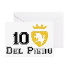 Del Piero Crest Greeting Card