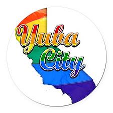Yuba City Round Car Magnet