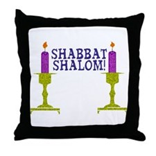 Shabbat Shalom! Throw Pillow