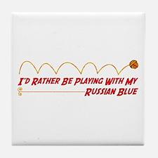 Playing Blue Tile Coaster
