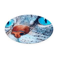 bluelicense Oval Car Magnet