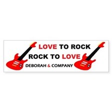 rock  roll Bumper Sticker