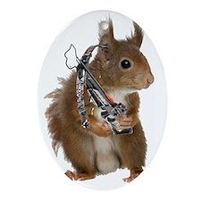 Daryl Squirrel Oval Ornament
