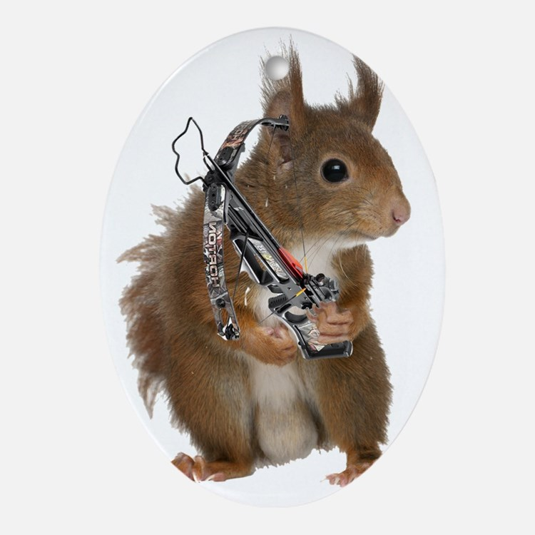 Daryl Squirrel Oval Ornament