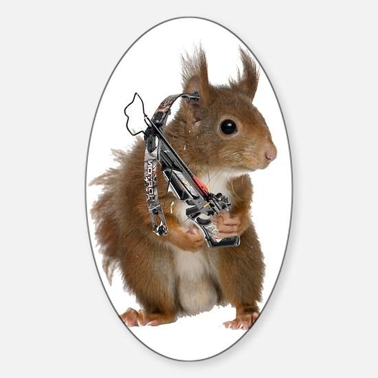 Daryl Squirrel Sticker (Oval)