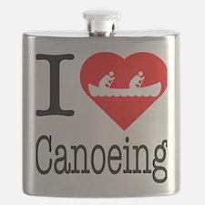 I-Heart-canoeing Flask