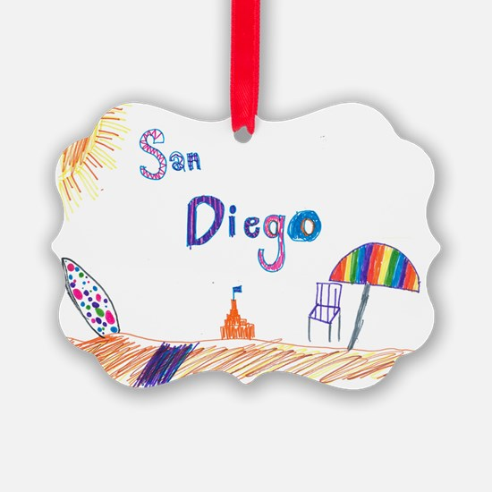 San Diego Christmas Ornament  CafePress