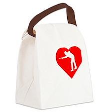 I-Heart-Billards-dark Canvas Lunch Bag