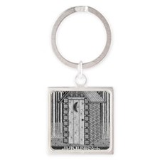 Outhouse Square Keychain