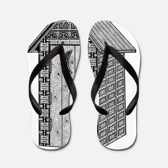 Outhouse-shirt Flip Flops