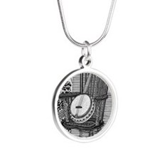 Ready to Rock Silver Round Necklace