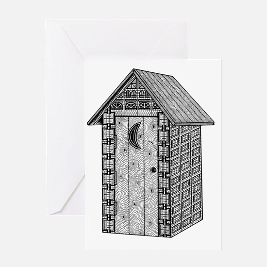 Outhouse-shirt Greeting Card