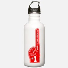 Confucius red Water Bottle