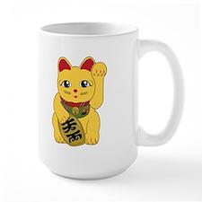 Gold Meneki Neko Mug