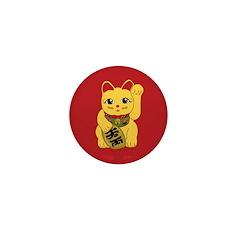 Gold Meneki Neko Mini Button (10 pack)