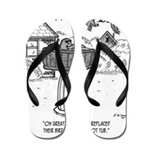 2118_bird_cartoon Flip Flops