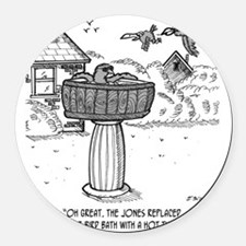 2118_bird_cartoon Round Car Magnet