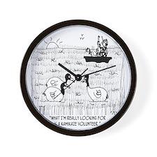 4208_hunting_cartoon Wall Clock