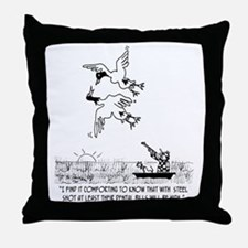 4198_hunting_cartoon_KK Throw Pillow