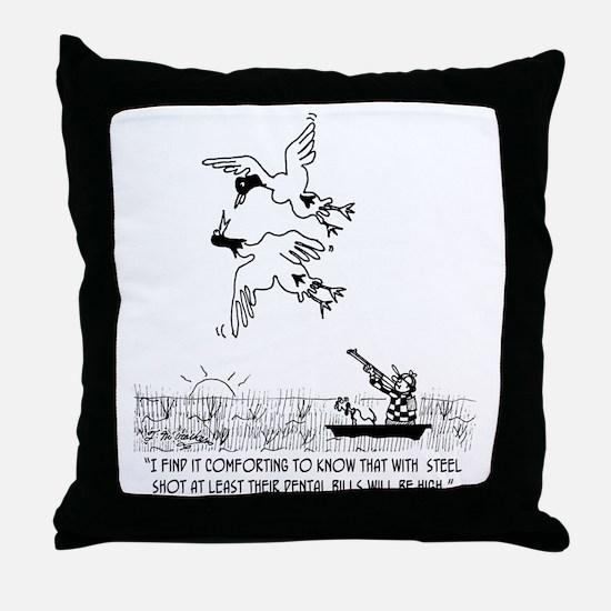 4198_hunting_cartoon_KK Throw Pillow