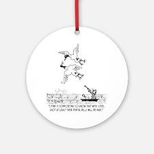 4198_hunting_cartoon_KK Round Ornament