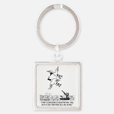 4198_hunting_cartoon_KK Square Keychain