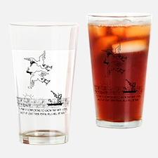 4198_hunting_cartoon_KK Drinking Glass