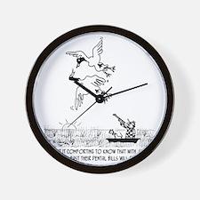 4198_hunting_cartoon_KK Wall Clock