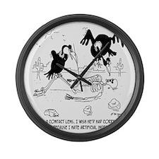 7121_nutrition_cartoon Large Wall Clock