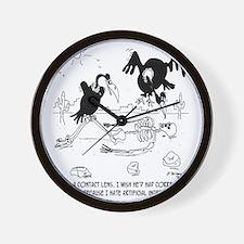 7121_nutrition_cartoon Wall Clock