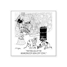 "8394_pollution_cartoon Square Sticker 3"" x 3"""