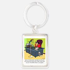 8414_parrot_cartoon Portrait Keychain